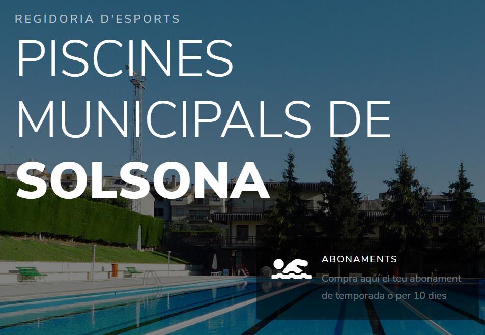 Web de les Piscines Municipals de Solsona