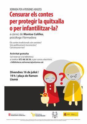 """XERRADA: """"Censurar els contes per protegir la quitxalla o per infantilitzar-la?"""" (NOVA DATA)"""